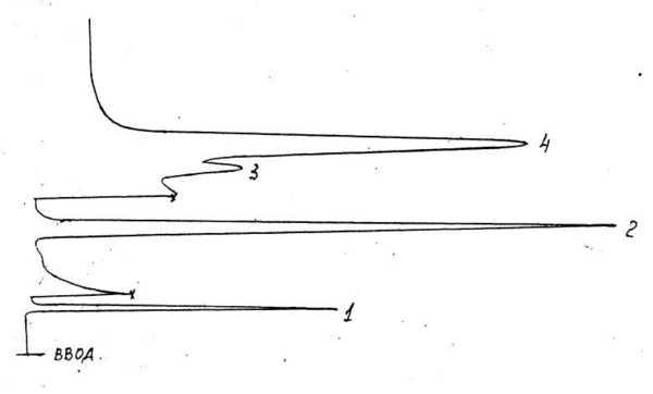 Рисунок 1. Образец хроматограммы.